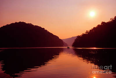 Poster featuring the photograph Buckhorn Lake Sunset by Thomas R Fletcher