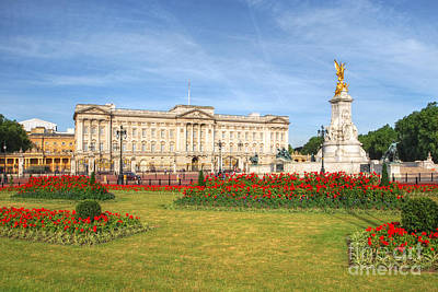 Buckingham Palace And Garden Poster