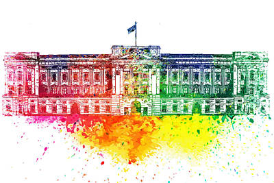 Buckingham Palace Watercolor Poster