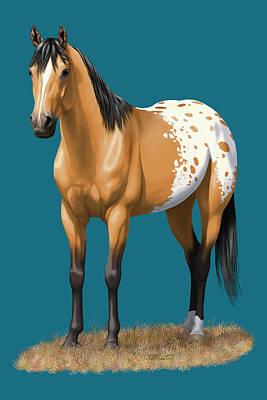 Buckskin Appaloosa Horse Poster by Crista Forest