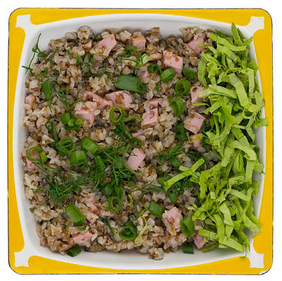 Buckwheat Cereal With Ham Poster