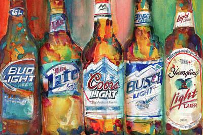 Bud Light Miller Lite Coors Light Busch Light Yuengling Light Combo Beer Poster