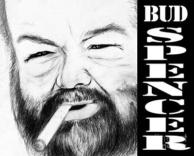 Bud Spencer Poster by Stefano Senise