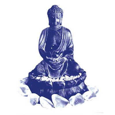 Buddha And White Stones Poster
