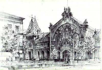 Budapest Market Hall Poster