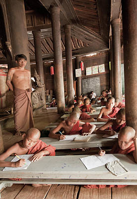 Poster featuring the photograph Buddah School by Matthew Bamberg