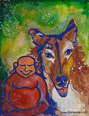 Buddha And The Divine Collie No. 1328 Poster