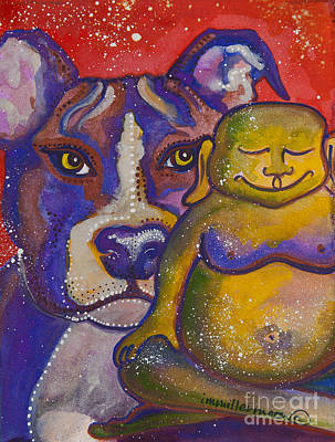 Buddha And The Divine Pit Bull No. 1330 Poster