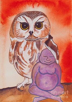 Buddha And The Divine Owl No. 2276 Poster