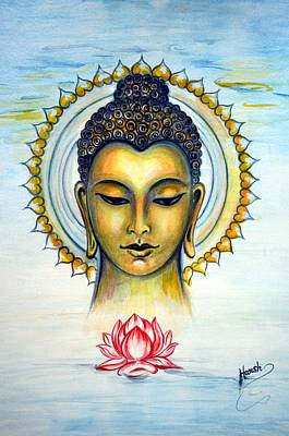 Buddha Bliss Where Ocean Meets The Sky Poster