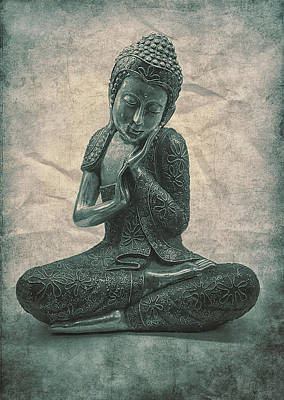 Buddha Contemplate Poster by Madeleine Forsberg