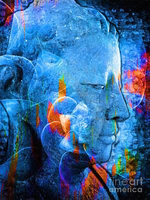 Buddha Coral Poster by Khalil Houri