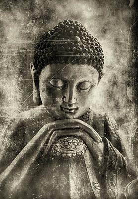Buddha Dark Sepia Poster