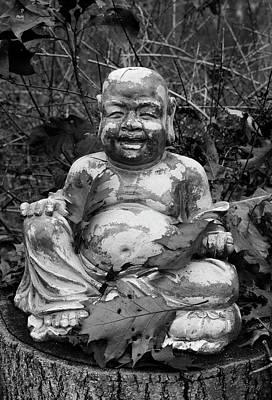 Buddha IIi Bw Poster by David Gordon