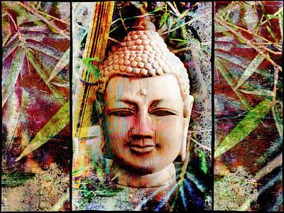 Buddha In Bamboo Poster