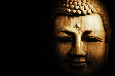 Buddha In Sepia Poster