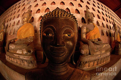 Poster featuring the photograph Buddha Laos 1 by Bob Christopher