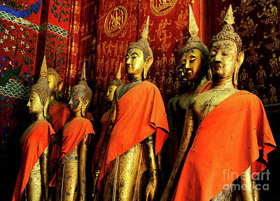 Poster featuring the photograph Buddha Laos 2 by Bob Christopher