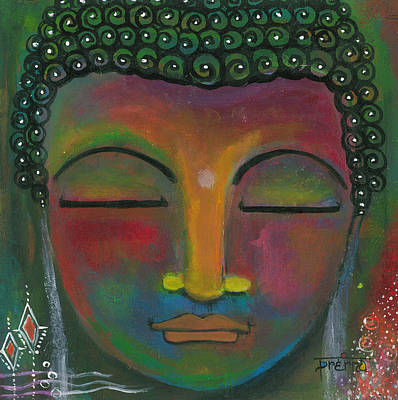 Poster featuring the painting Buddha Painting by Prerna Poojara