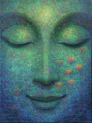 Poster featuring the painting Buddha Smile by Sue Halstenberg