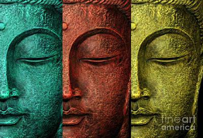 Buddha Statue Poster by Mark Ashkenazi