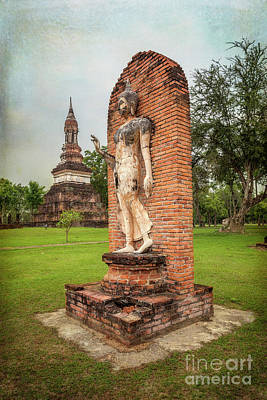 Poster featuring the photograph Buddha Statue Sukhothai by Adrian Evans