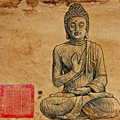 Buddha The Minimalist Poster