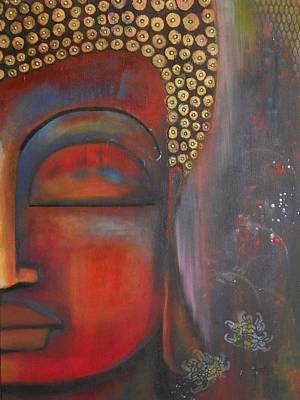 Buddha With Floating Lotuses Poster