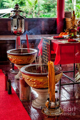 Buddhist Incense Poster