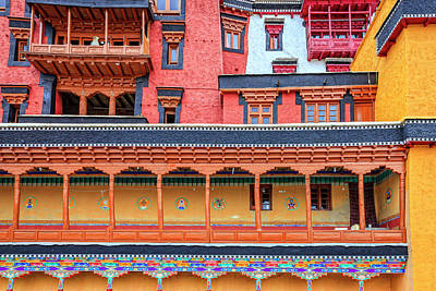 Poster featuring the photograph Buddhist Monastery Building by Alexey Stiop