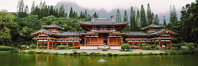 Buddhist Temple With Mountain Poster by Panoramic Images