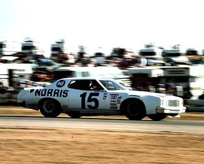 Buddy Baker # 15 Bud Moore / Norris Ford Torino At Riverside Poster by David Bryant