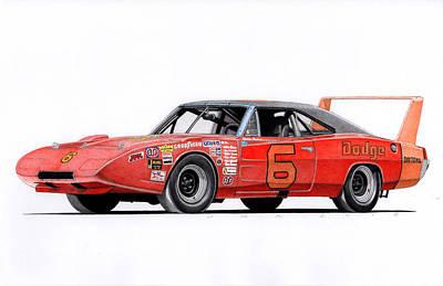 Buddy Baker Daytona Poster by James Robert