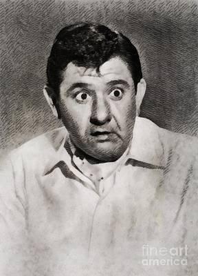 Buddy Hackett, Vintage Hollywood Actor Poster