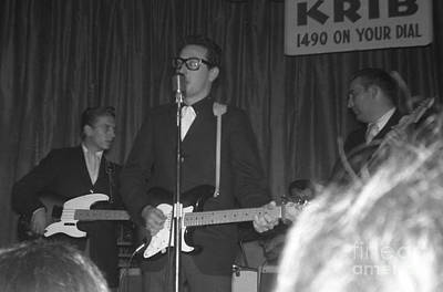Buddy Holly Onstage At The Surf Ball Room Playing His Last Concert Poster by The Titanic Project