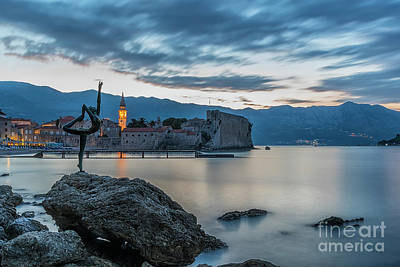 Budva Little Ballerina Statue Long Exposure Poster