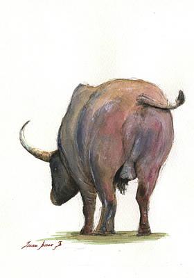 Buffalo Back Poster by Juan Bosco