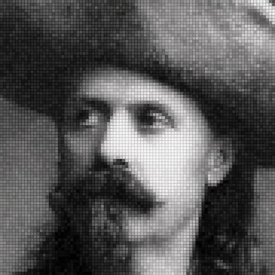 Buffalo Bill Cody Mosaic Poster