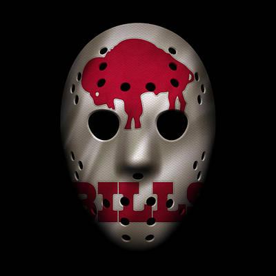 Buffalo Bills War Mask 2 Poster by Joe Hamilton