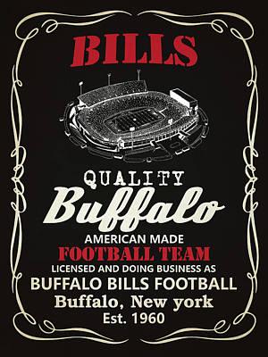 Buffalo Bills Whiskey 2 Poster by Joe Hamilton