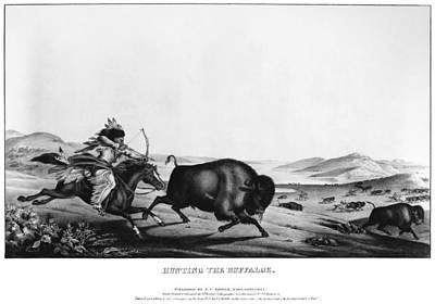 Buffalo Hunt, 1837 Poster