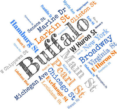 Buffalo Ny Word Cloud Poster