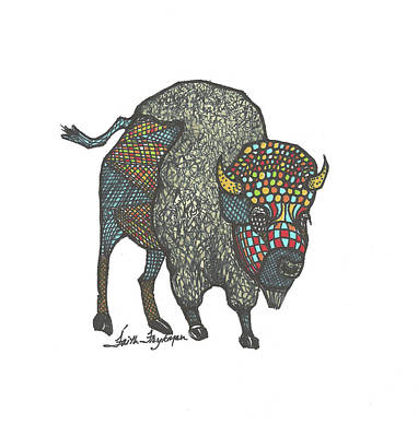Buffalo Or Bison Poster by Faith Frykman