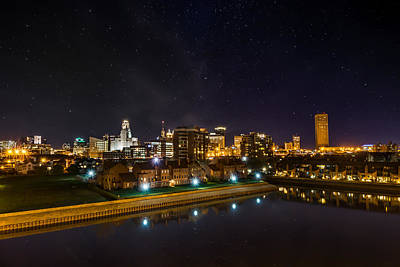 Buffalo Skyline Under The Stars Poster by Chris Bordeleau