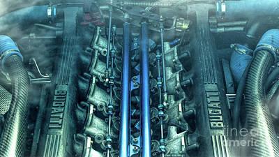 Bugatti Eb110 V12 Engine Poster