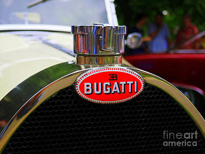 Bugatti Red Poster