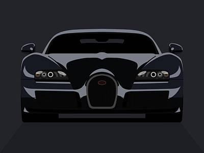 Bugatti Veyron Dark Poster