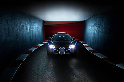 Bugatti Veyron In Secret Tunnel Poster