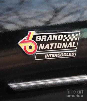 Buick Grand National Emblem Poster