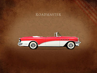 Buick Roadmaster 1955 Poster by Mark Rogan